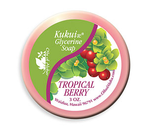 SoapsKukui Glycerine Tropical Berry Soap 3oz