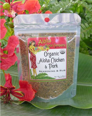 Assorted SaltsOrganic Aloha Chicken and Pork Seasoning and Rub